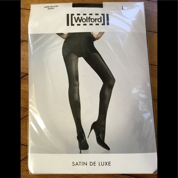 d37be68b0 Wolford Satin De Luxe tights. Black. Size Large